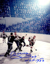Bobby Hull Signed Blackhawks In Game Action 8x10 Photo w/HOF 1983 PSM-Powers Sports Memorabilia