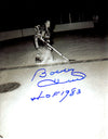 Bobby Hull Signed Blackhawks On Ice B&W 8x10 Photo w/HOF 1983 PSM-Powers Sports Memorabilia