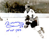 Bobby Hull Signed Blackhawks B&W In Game Skating 8x10 Photo w/HOF 1983 PSM-Powers Sports Memorabilia