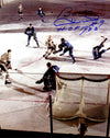 Bobby Hull Signed Blackhawks Action vs Maple Leafs 8x10 Photo w/The Golden Jet PSM-Powers Sports Memorabilia