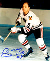 Bobby Hull Signed Chicago Blackhawks In Game Skating 8x10 Photo PSM-Powers Sports Memorabilia