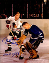 Bobby Hull Signed Chicago Blackhawks Shot On Goal Vs Johnny Bower 11x14 Photo w/HOF 1983 PSM-Powers Sports Memorabilia