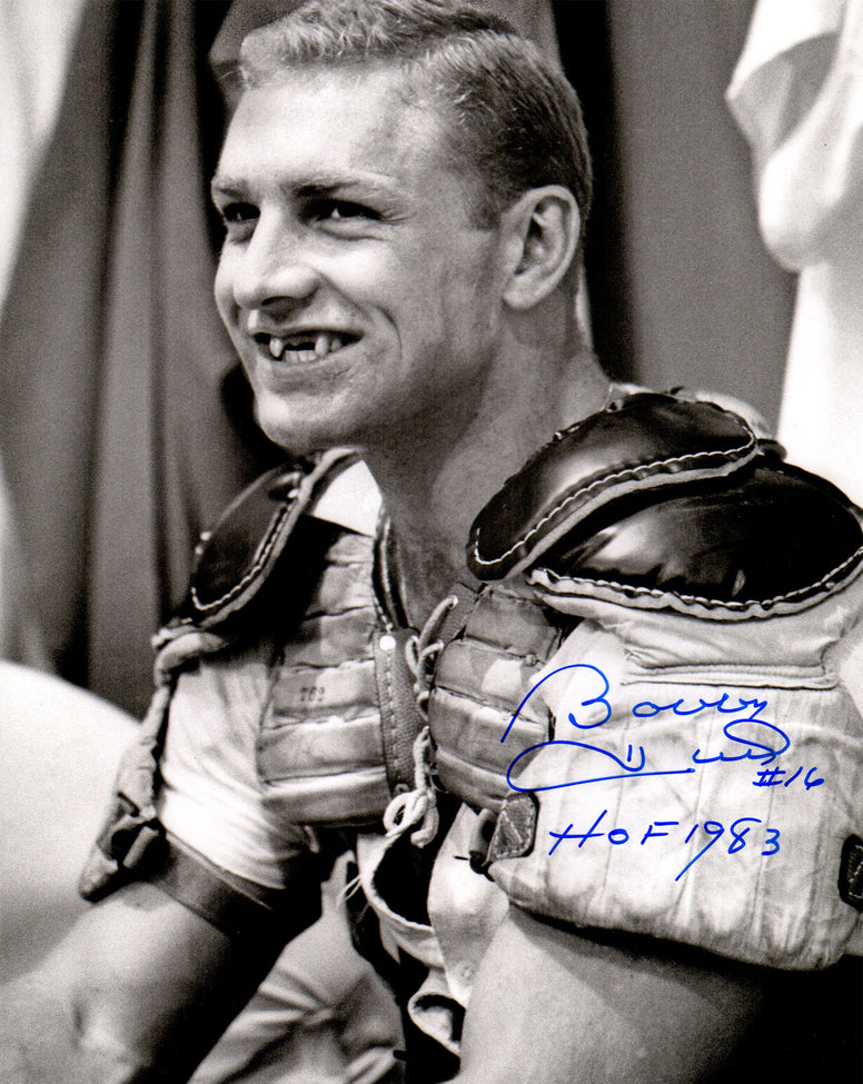 Bobby Hull signed Blackhawks B&W Toothless Smile In Pads 11x14 Photo w/HOF 1983 PSM-Powers Sports Memorabilia