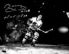 Bobby Hull Signed Blackhawks B&W Skating Action 11x14 Photo w/HOF 1983 PSM-Powers Sports Memorabilia