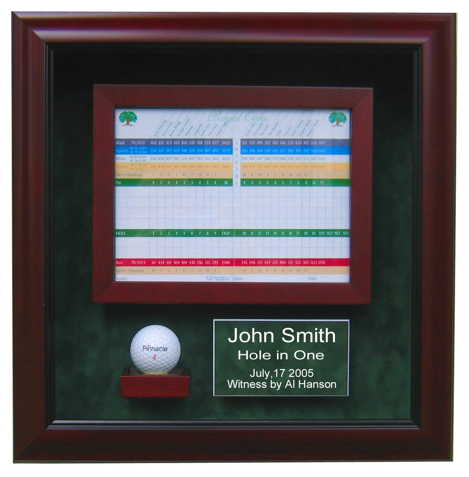HOLE IN ONE DISPLAY CASE-Powers Sports Memorabilia