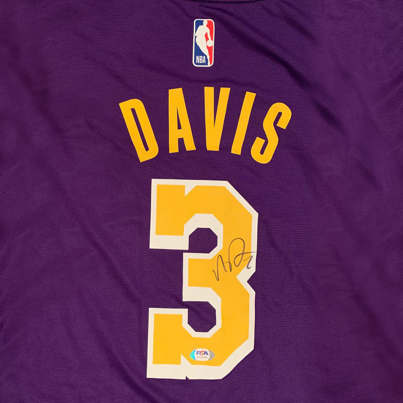 Anthony Davis Autographed Los Angeles Lakers Signed NBA Fanatics Brand Purple Basketball Jersey PSA DNA COA-Powers Sports Memorabilia