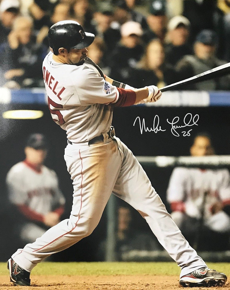 Mike Lowell Autographed Boston Red Sox 16x20 Photo PSM-Powers Sports Memorabilia