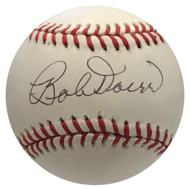 Bobby Doerr Autographed Official League Hall of Fame Baseball (JSA) PSM-Powers Sports Memorabilia