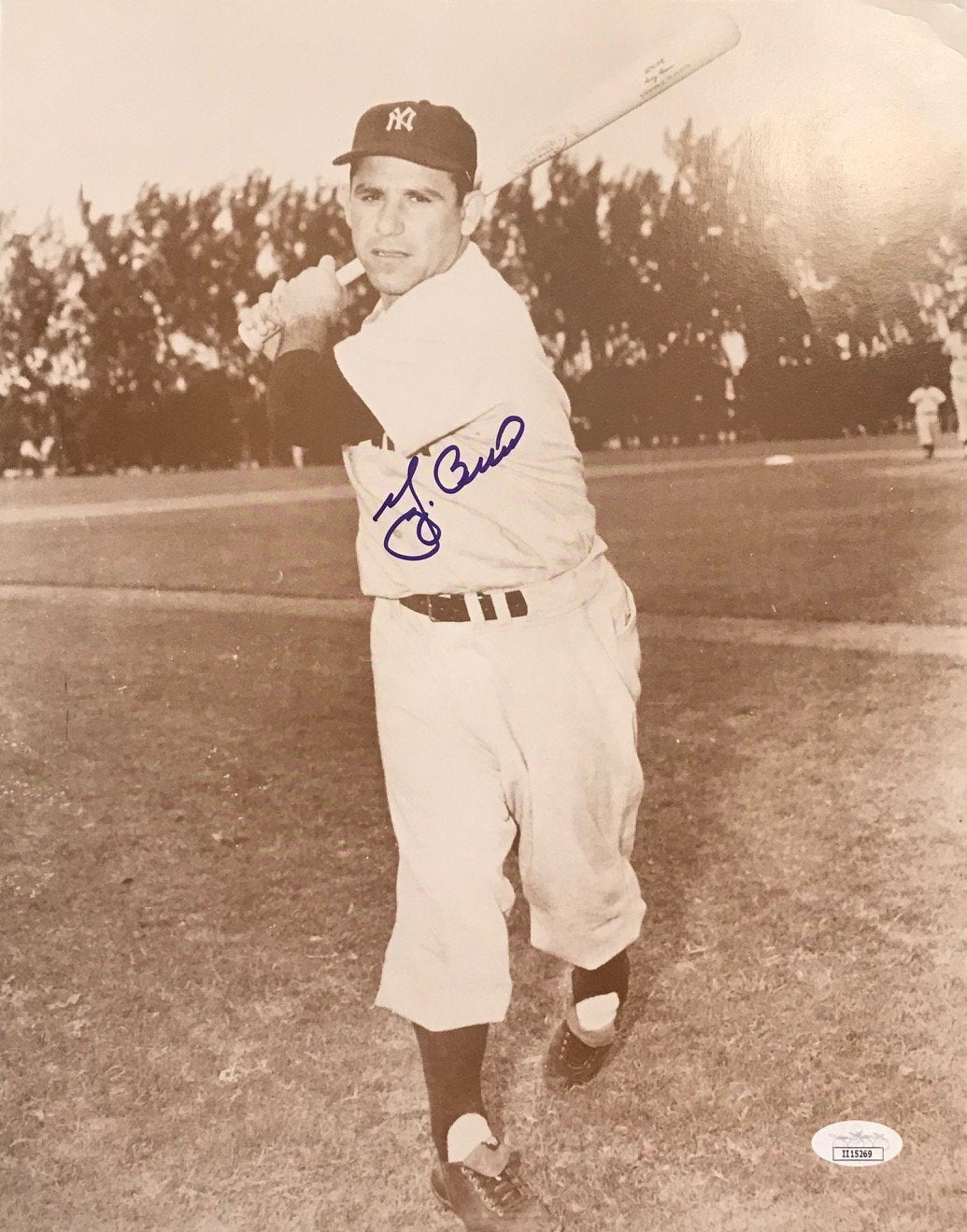 Yogi Berra Autographed 11x14 Photo (JSA) PSM-Powers Sports Memorabilia