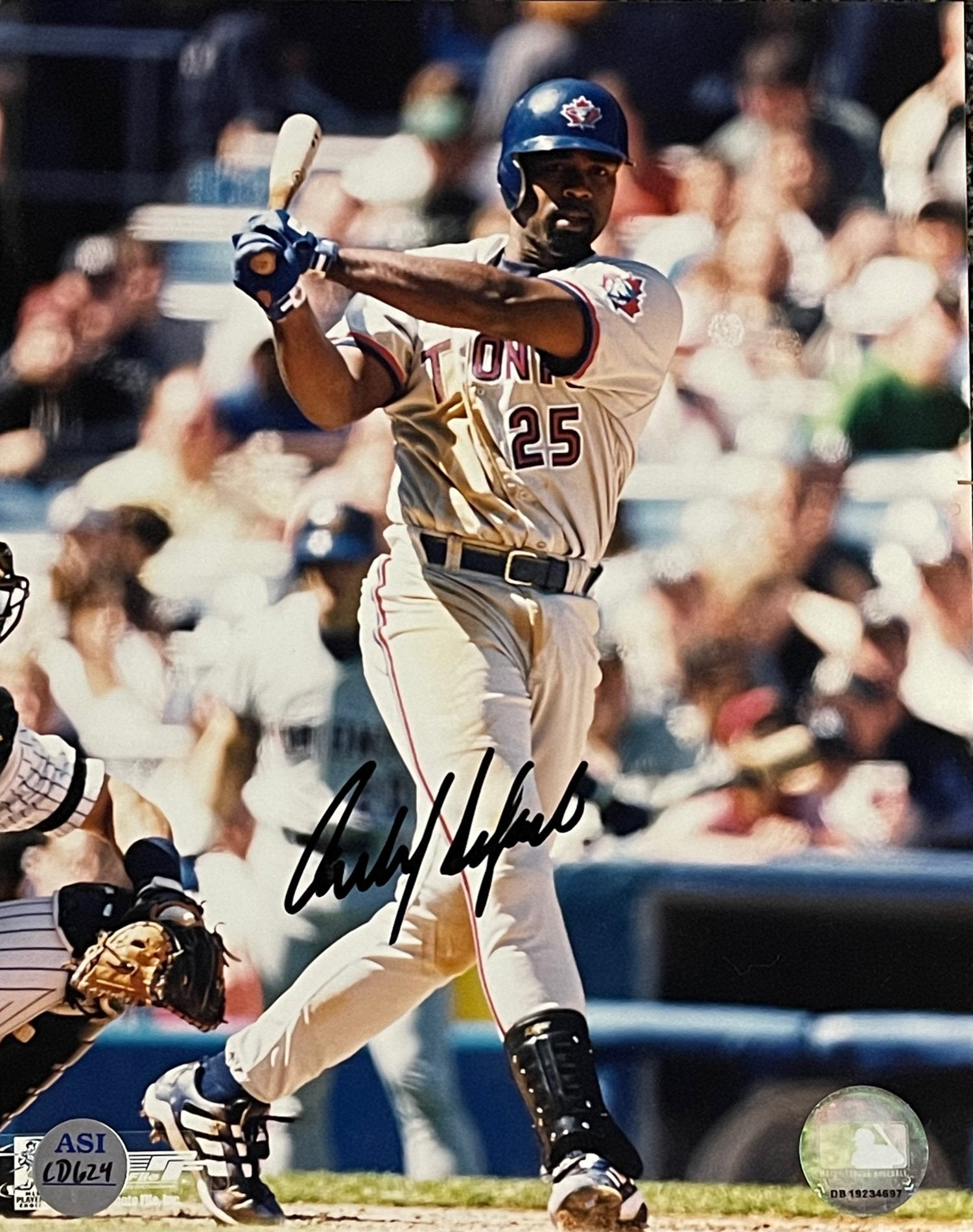 Carlos Delgado Autographed Toronto Blue Jays 8x10 Photo PSM-Powers Sports Memorabilia