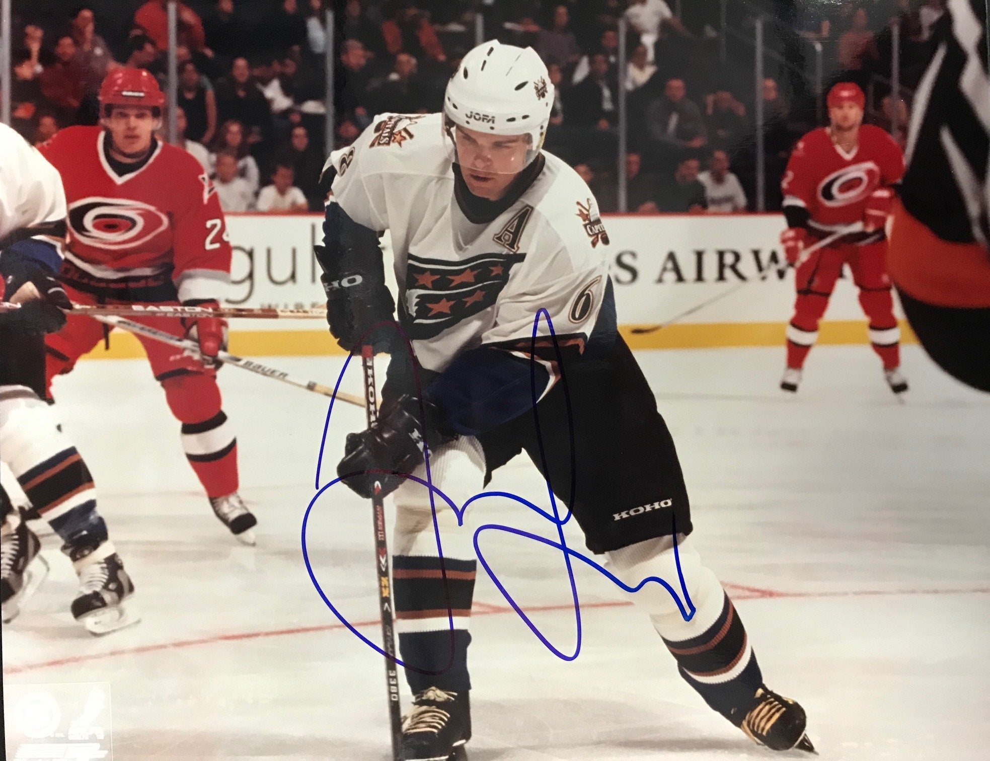 Jaromir Jagr On Ice Autographed 8x10 Photo Washington Capitals PSM-Powers Sports Memorabilia