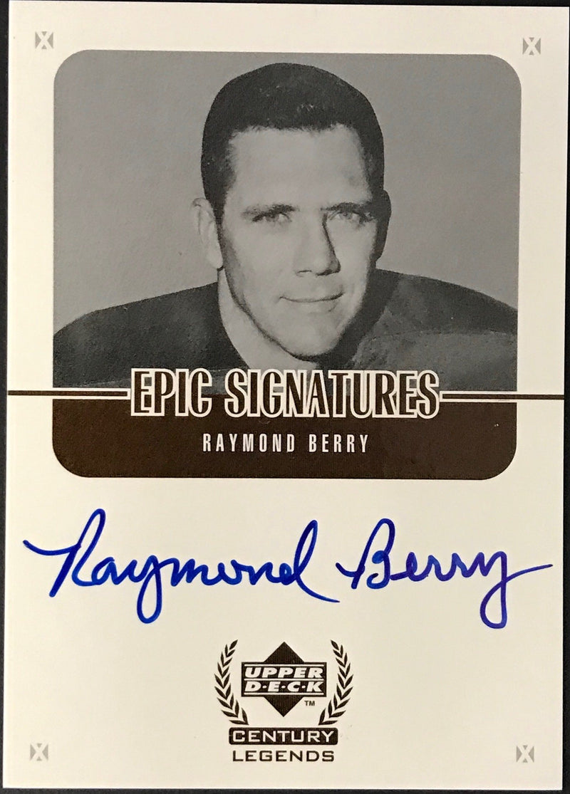 Raymond Berry Autographed 1999 Upper Deck Century Legends Card PSM-Powers Sports Memorabilia