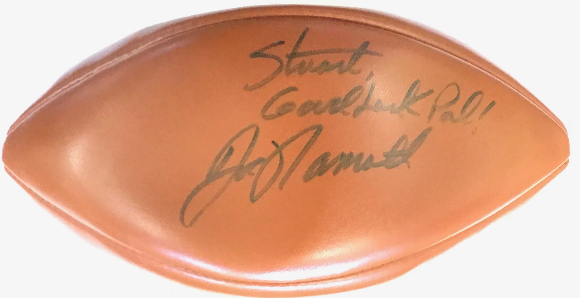 Joe Namath Autographed Wilson Football New York Jets PSM-Powers Sports Memorabilia