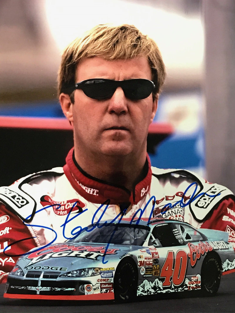 Sterling Marlin Autographed 8x10 Racing Photo PSM-Powers Sports Memorabilia
