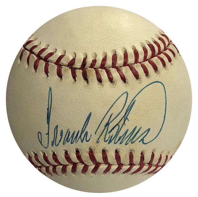 Frank Robinson Autographed Baseball PSM-Powers Sports Memorabilia