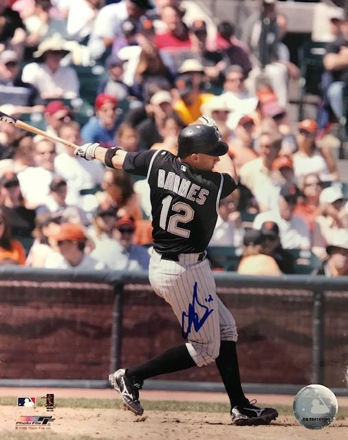 Clint Barmes Autographed 8x10 Baseball Photo Colorado Rockies PSM-Powers Sports Memorabilia