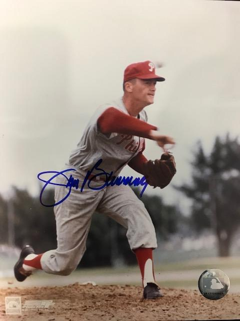 Jim Bunning Autographed 8x10 Baseball Photo PSM-Powers Sports Memorabilia