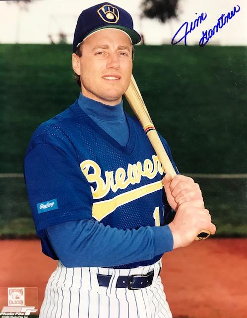Jim Gantner Autographed 8x10 Baseball Photo - Milwaukee Brewers PSM-Powers Sports Memorabilia
