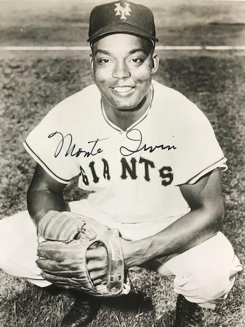 Monte Irvin Autographed 8x10 Black & White Baseball Photo PSM-Powers Sports Memorabilia