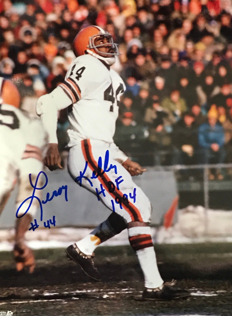 Leroy Kelly Autographed 8x10 Football Photo PSM-Powers Sports Memorabilia