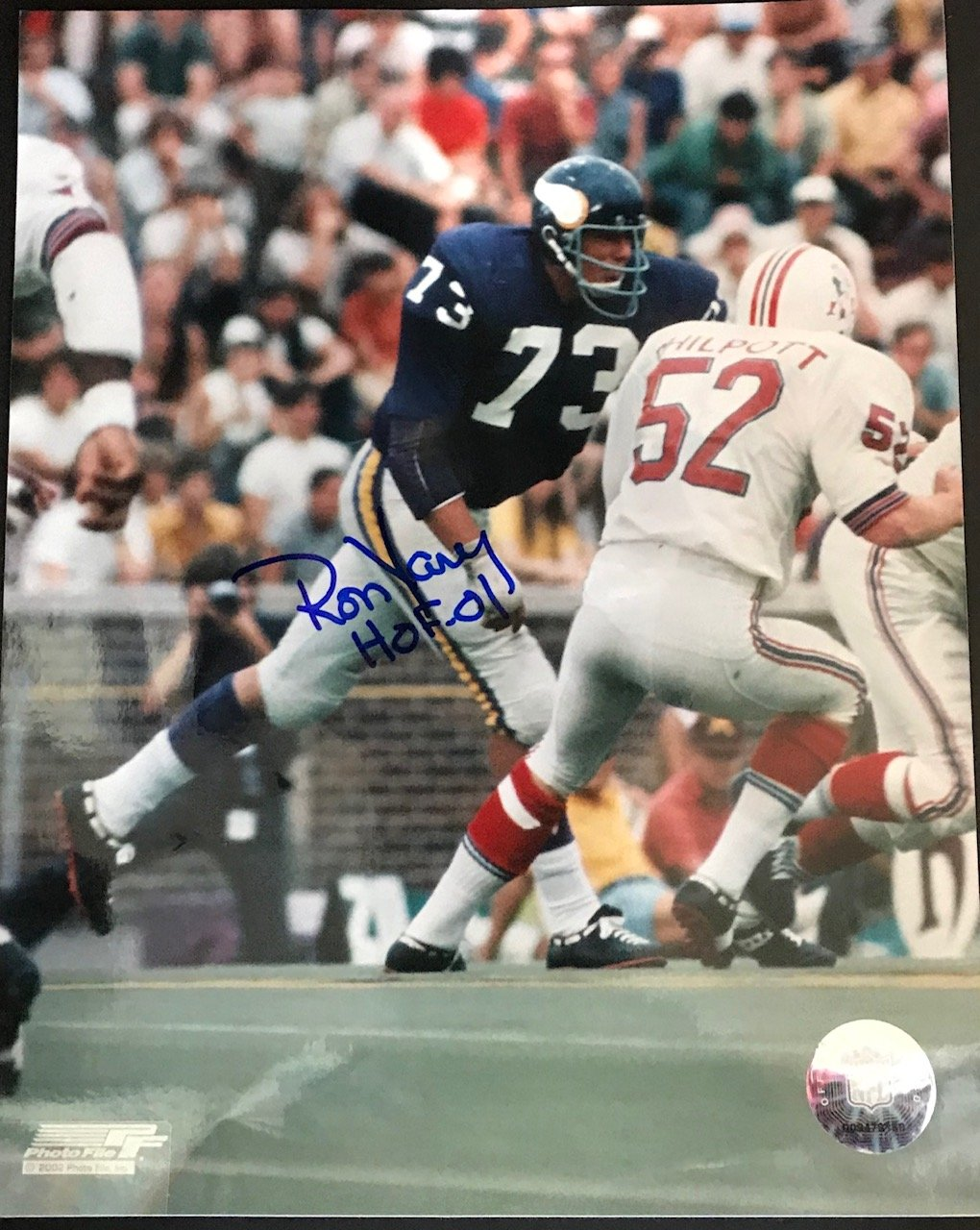 Ron Yary Autographed 8x10 Football Photo PSM-Powers Sports Memorabilia