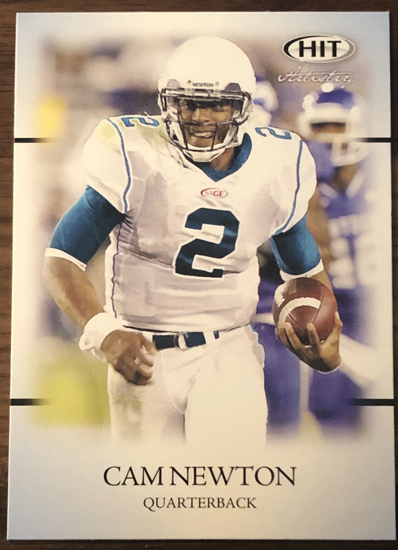 Cam Newton 2011 Sage Hit Rookie Card PSM-Powers Sports Memorabilia