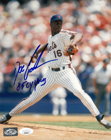 Dwight/Doc Gooden signed New York Mets 8x10 Photo w/ 85 CY Young- JSA Hologram PSM-Powers Sports Memorabilia