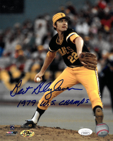 Bert Blyleven signed Pittsburgh Pirates 8x10 Photo 1979 W.S. Champs- JSA Hologram PSM-Powers Sports Memorabilia
