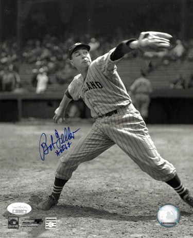 Bob Feller signed Cleveland Indians 8x10 Vintage Sepia Photo HOF 62- JSA Hologram (Pitching) PSM-Powers Sports Memorabilia
