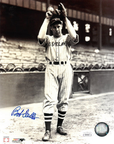 Bob Feller signed Cleveland Indians 8x10 Vintage Sepia Photo- JSA Hologram (Wind-up) PSM-Powers Sports Memorabilia