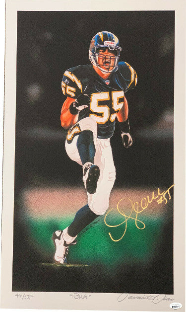 "Junior Seau signed San Diego Chargers 16x27 Lithograph/Photo #55 ""BUG""- Limited Edition #1 of 55- JSA PSM-Powers Sports Memorabilia"