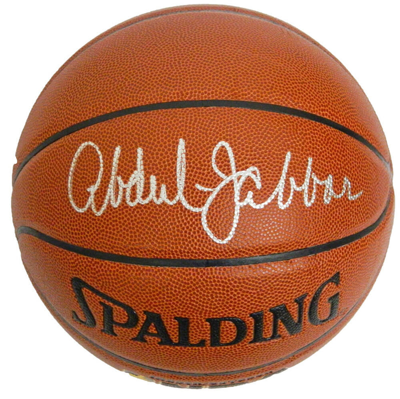 Kareem Abdul-Jabbar Signed Spalding NBA Indoor/Outdoor Basketball PSM-Powers Sports Memorabilia