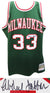 Kareem Abdul-Jabbar Signed Milwaukee Bucks Green Mitchell & Ness NBA Swingman Basketball Jersey PSM-Powers Sports Memorabilia