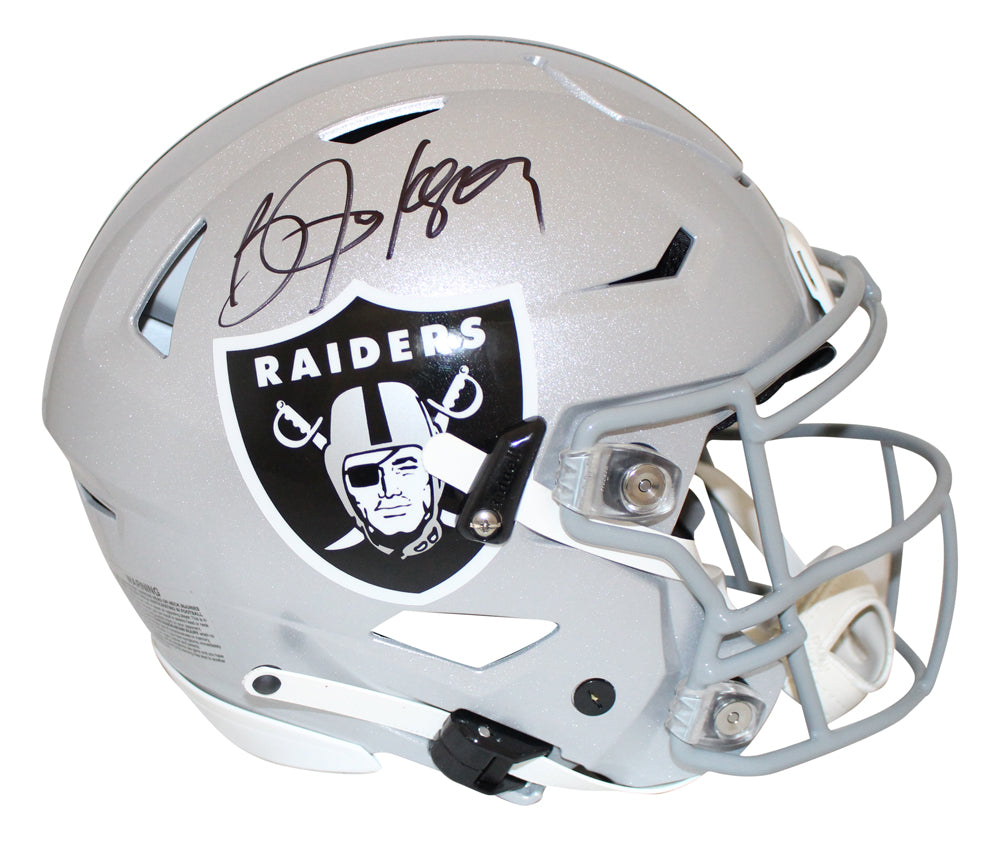 Bo Jackson Autographed Oakland Raiders Authentic Speed Flex Helmet BAS PSM-Powers Sports Memorabilia