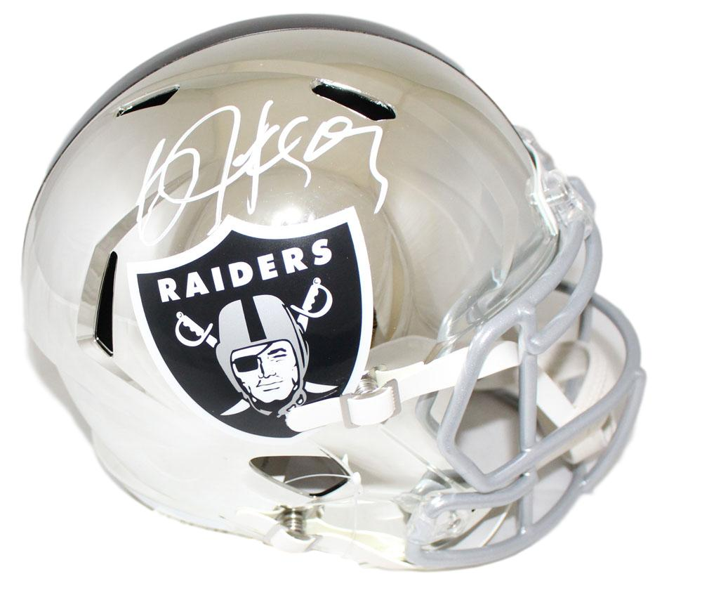Bo Jackson Autographed Oakland Raiders Chrome Replica Helmet PSA PSM-Powers Sports Memorabilia