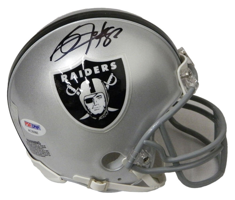 Bo Jackson Signed Raiders Riddell Mini Helmet (PSA/DNA) PSM-Powers Sports Memorabilia