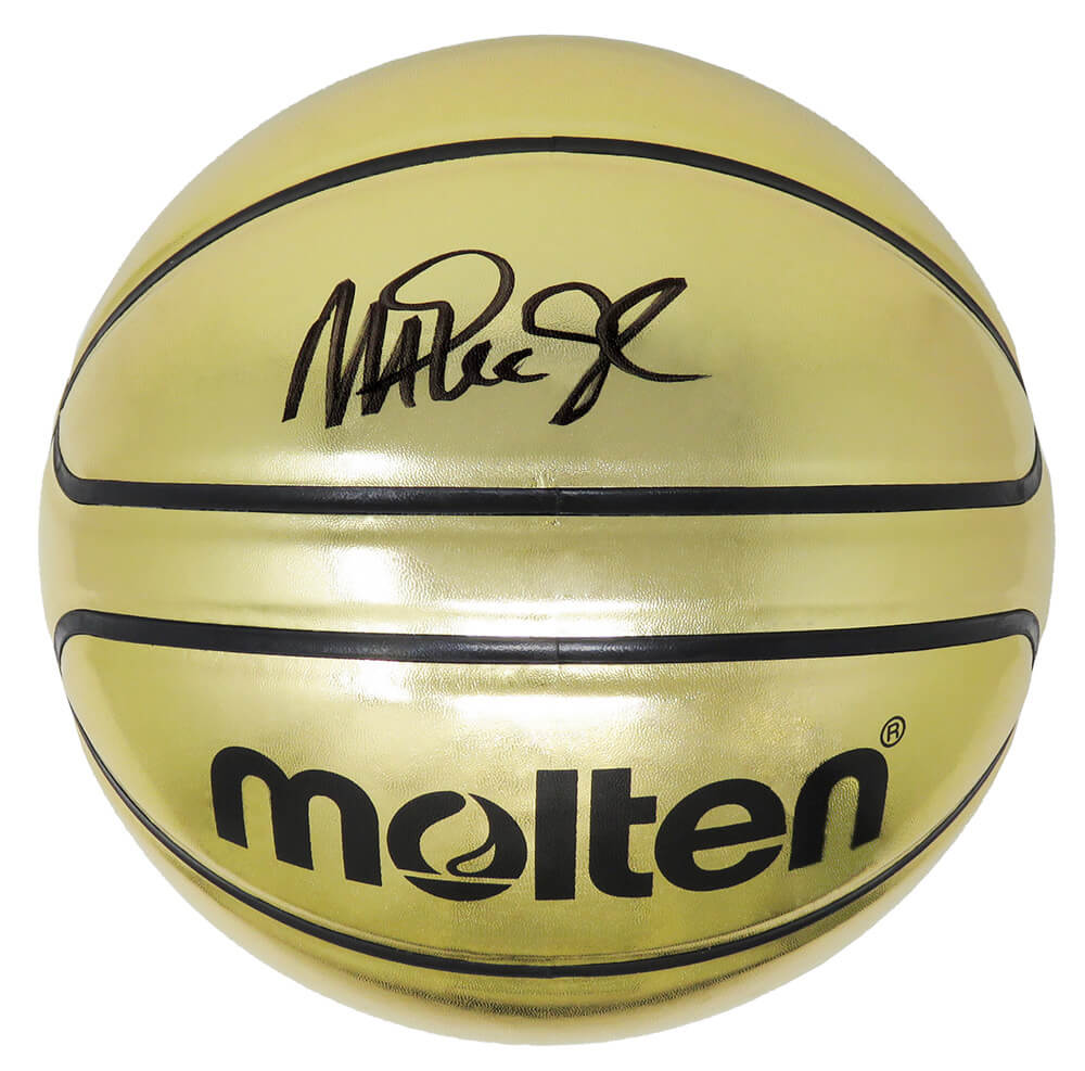 Magic Johnson Signed Molten Gold Official Size Basketball PSM-Powers Sports Memorabilia
