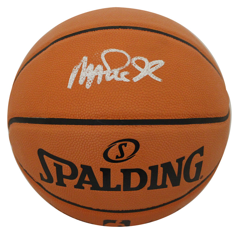 Magic Johnson Autographed Los Angeles Lakers Spalding I/O Basketball BAS PSM-Powers Sports Memorabilia