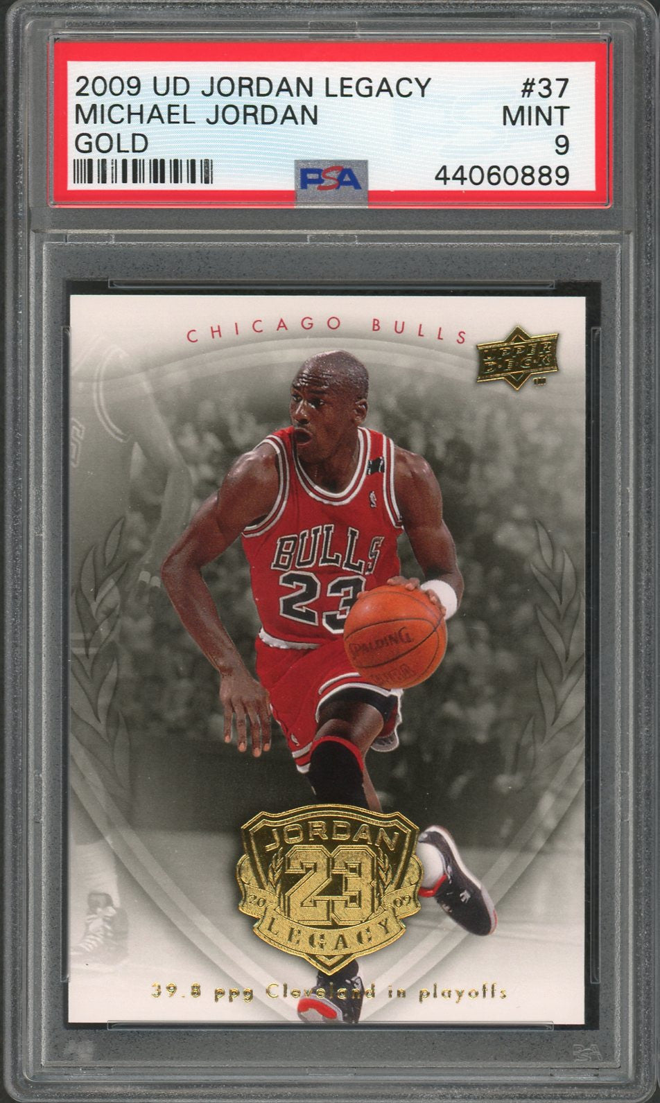 Michael Jordan Chicago Bulls 2009 Upper Deck Legacy Gold Basketball Card #37 Graded PSA 9 MINT-Powers Sports Memorabilia