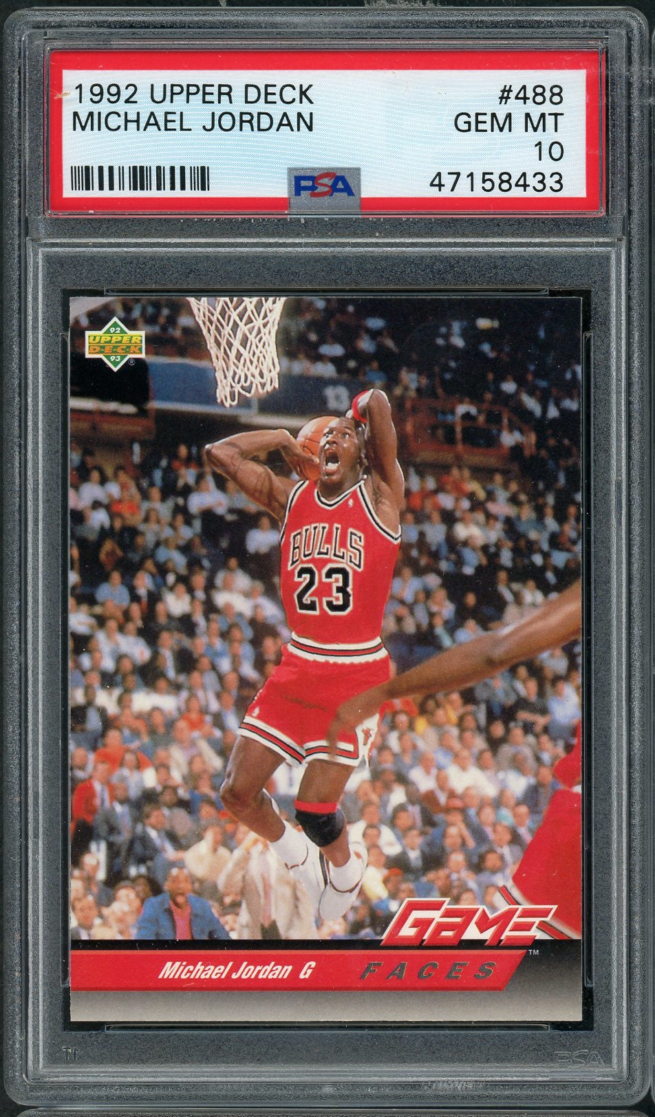 Michael Jordan Chicago Bulls 1992 Upper Deck Basketball Card #488 Graded PSA 10 GEM MINT-Powers Sports Memorabilia