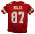 Travis Kelce Autographed Kansas City Chiefs Red XL Jersey BAS PSM-Powers Sports Memorabilia