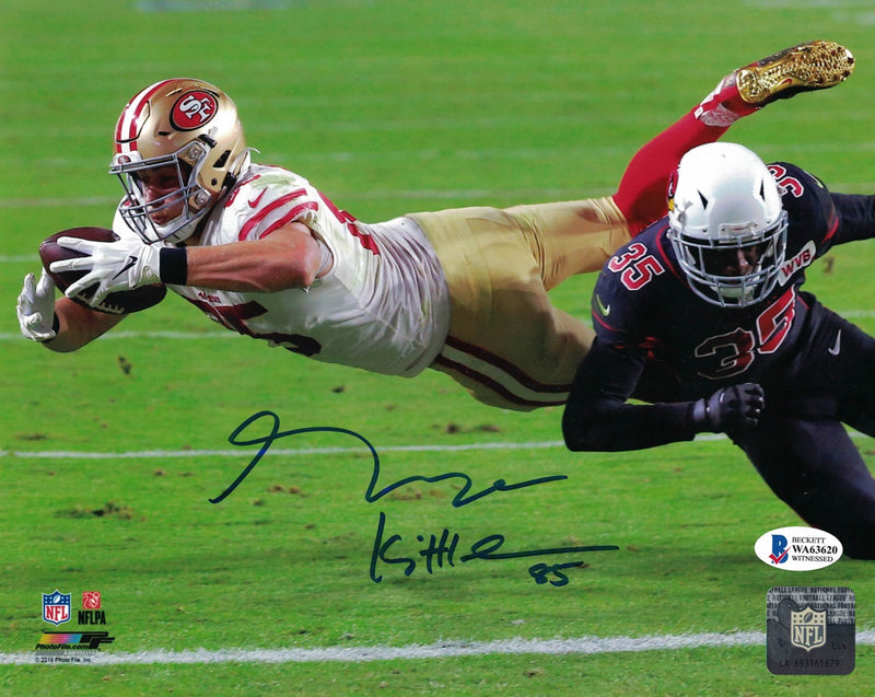George Kittle Autographed/Signed San Francisco 49ers 8x10 Photo BAS PF PSM-Powers Sports Memorabilia
