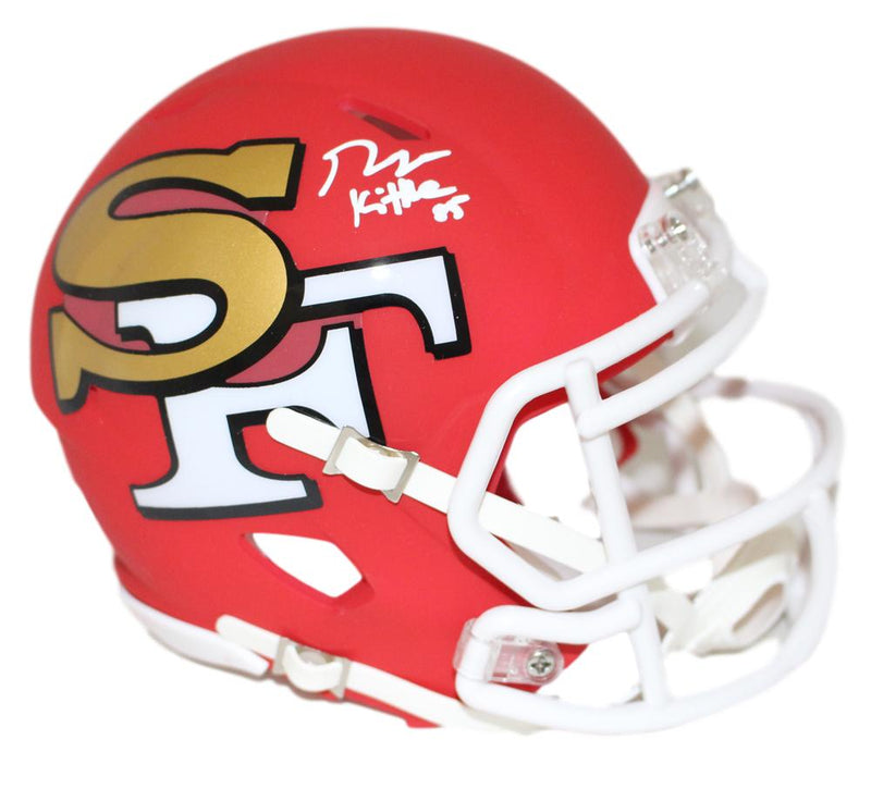 George Kittle Autographed San Francisco 49ers AMP Mini Helmet BAS PSM-Powers Sports Memorabilia