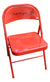 Bob Knight & Phil Bova Autographed Indiana Hoosiers Red Folding Chair BAS PSM-Powers Sports Memorabilia