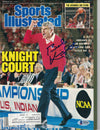 Bobby Knight Signed Indiana Hoosiers 1987 Sports Illustrated Magazine BAS PSM-Powers Sports Memorabilia