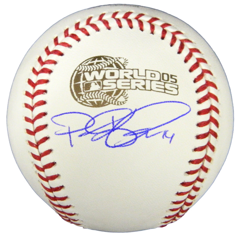 Paul Konerko Signed 2005 World Series Baseball PSM-Powers Sports Memorabilia