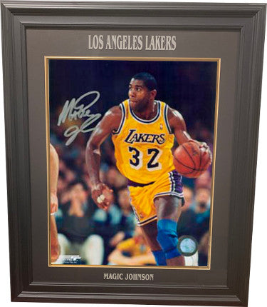 Magic Johnson signed Los Angeles Lakers 16x20 Photo Custom Laser Engraved Framing PSM-Powers Sports Memorabilia