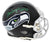 Steve Largent Signed Seattle Seahawks Flat Black Matte Riddell Mini Helmet w/HOF'95 PSM-Powers Sports Memorabilia