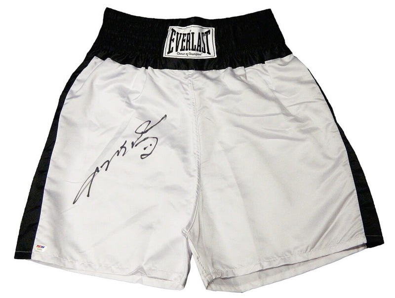 Sugar Ray Leonard Signed Everlast White Boxing Trunks (PSA/DNA) PSM-Powers Sports Memorabilia