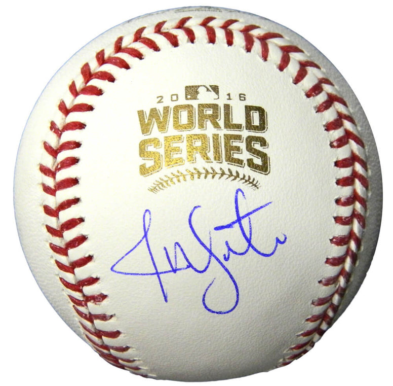 Jon Lester Signed Rawlings Official 2016 World Series Baseball PSM-Powers Sports Memorabilia